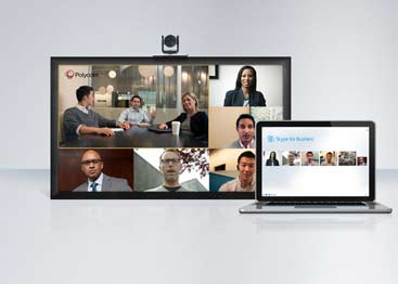 Polycom integra video para Microsoft Office 365 y Skype for Business